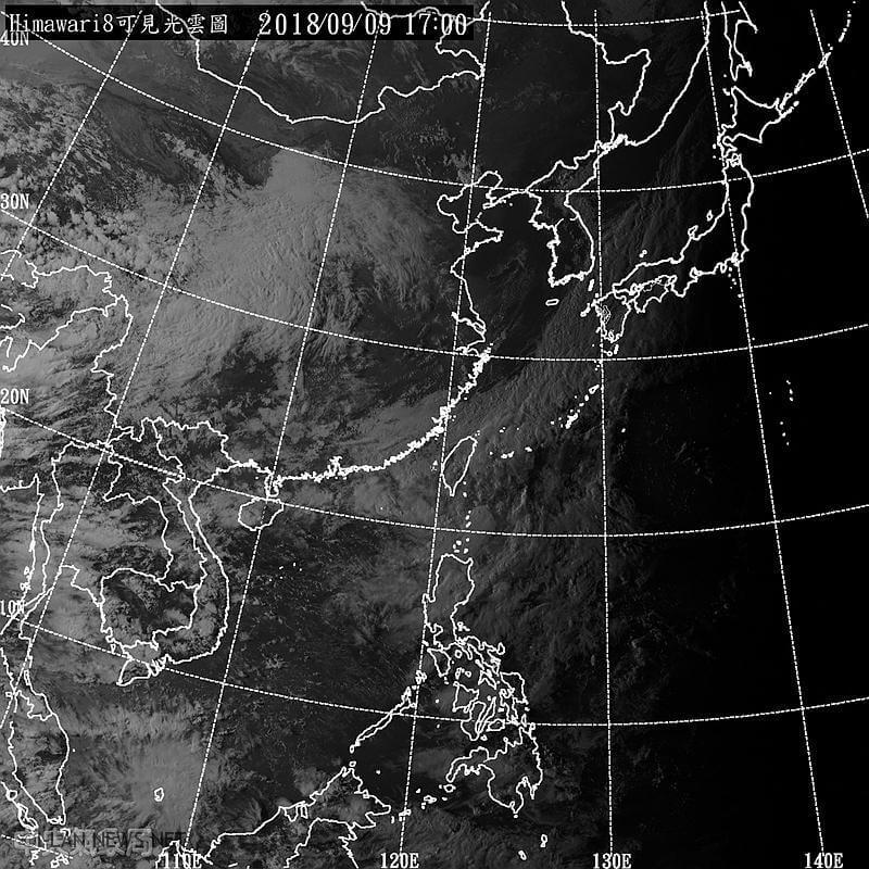 山竹颱風中午2點增強為中颱!